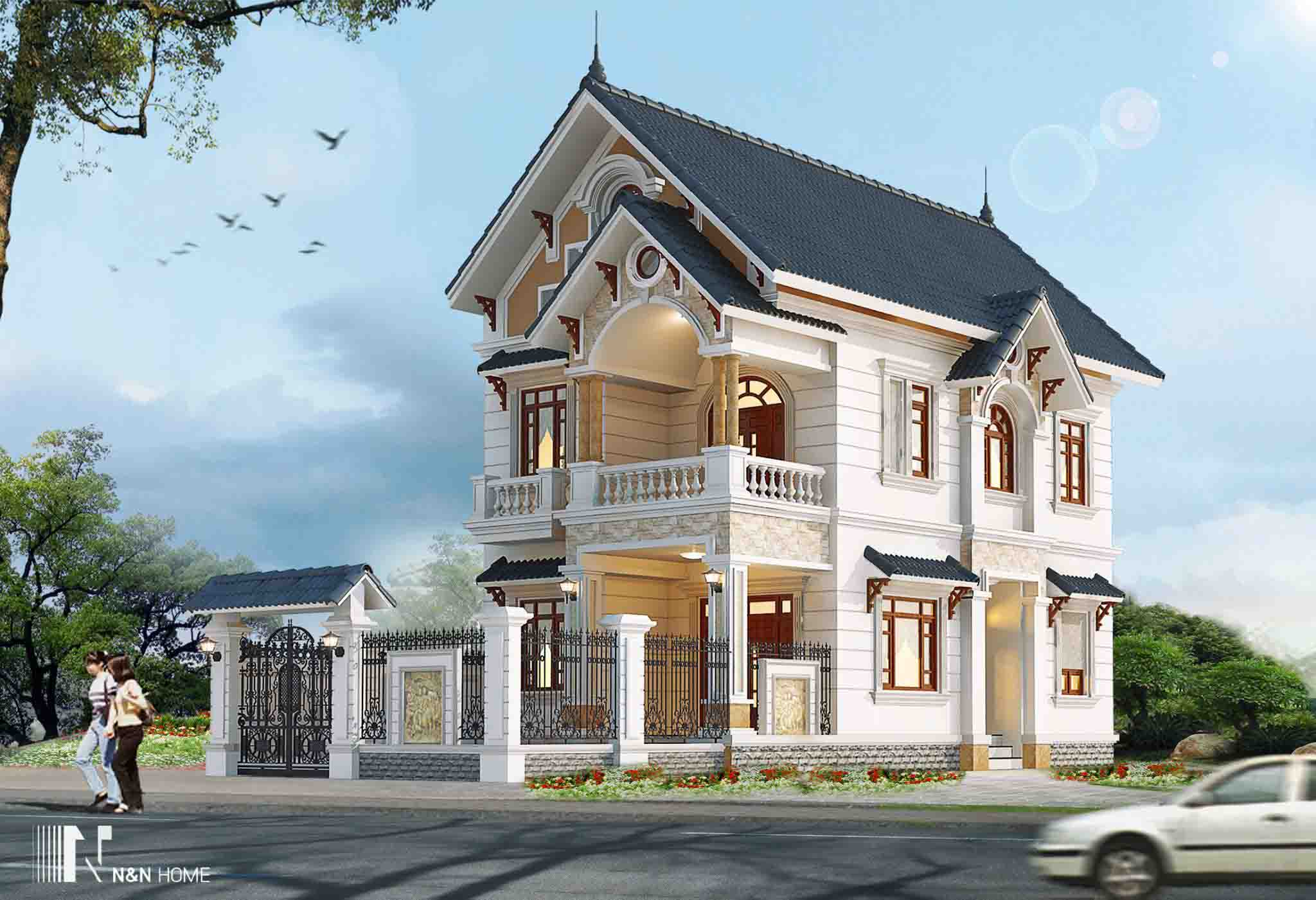 xây nhà kiểu Pháp