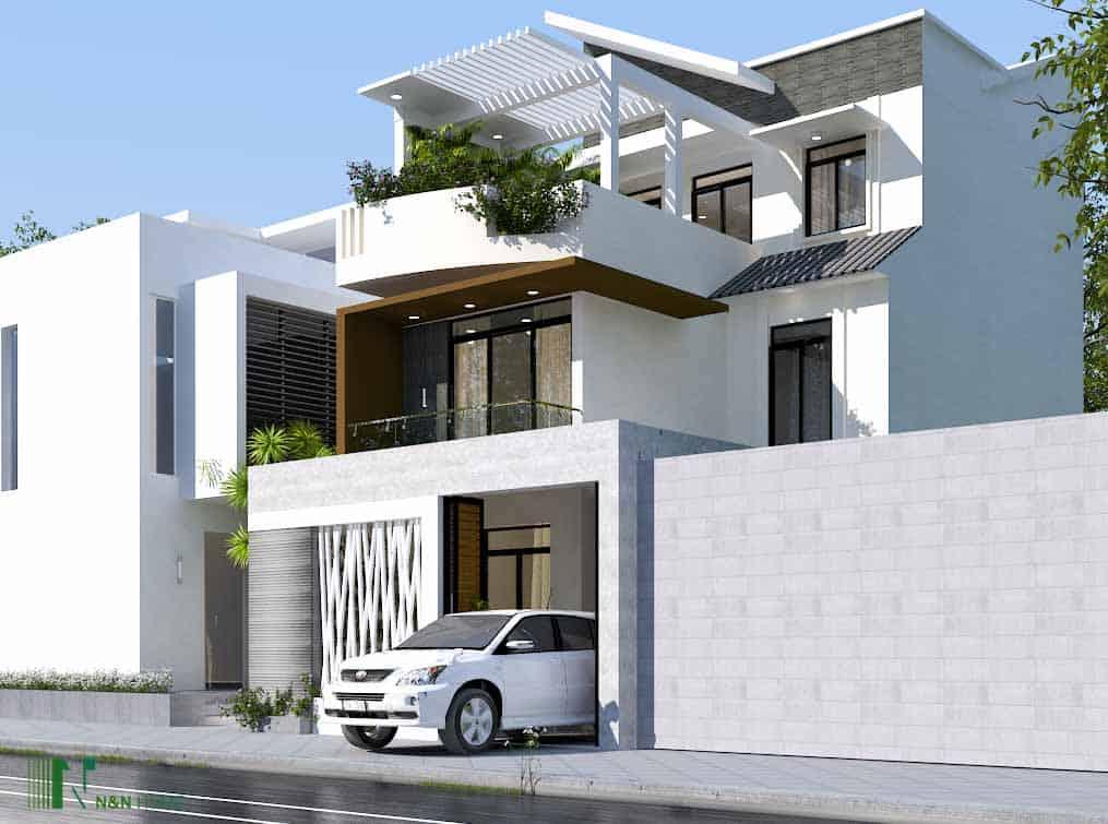 xây nhà mái Thái