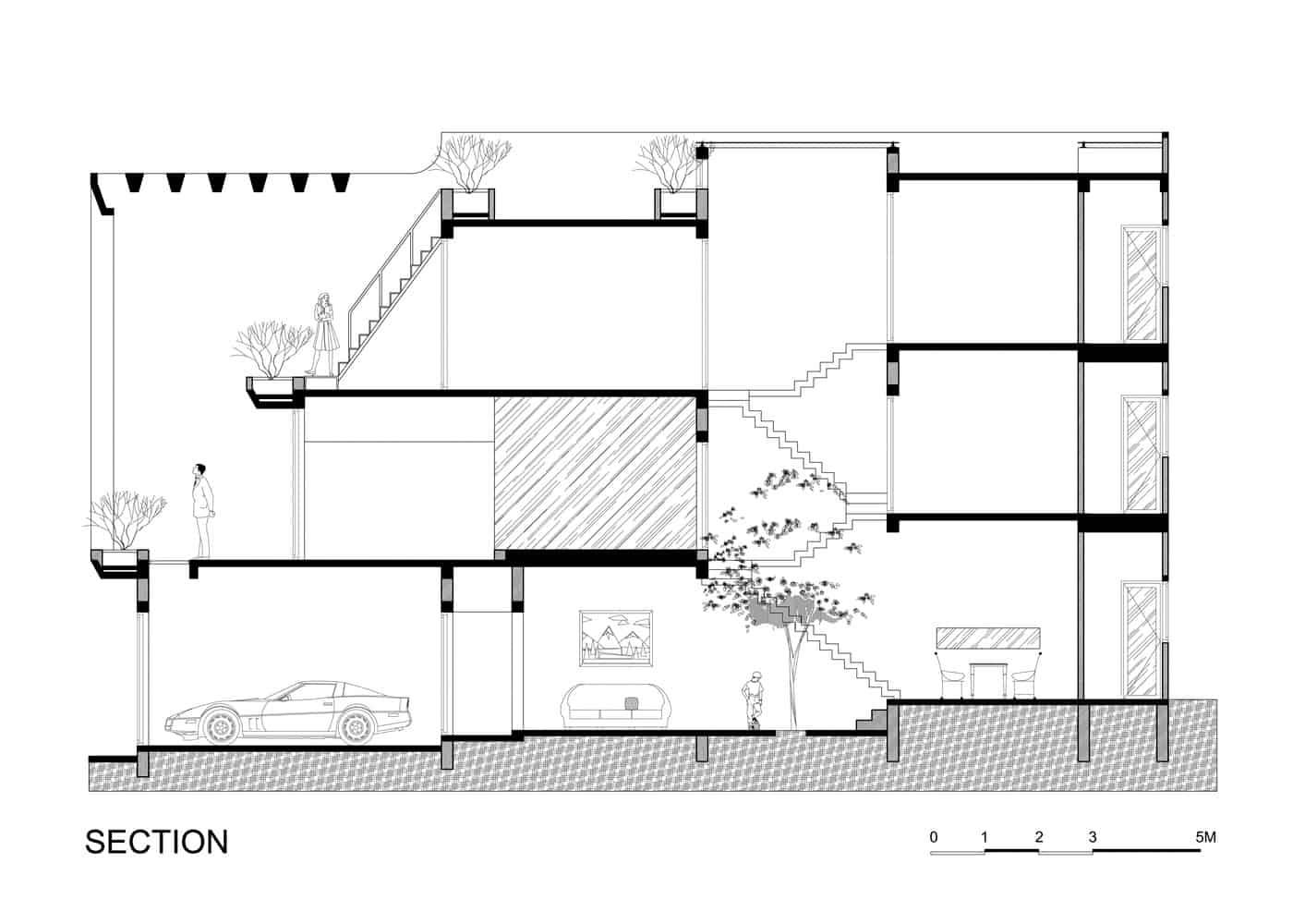 Phòng ngủ được thiết kế nối liền ban công trang trí cây xanh