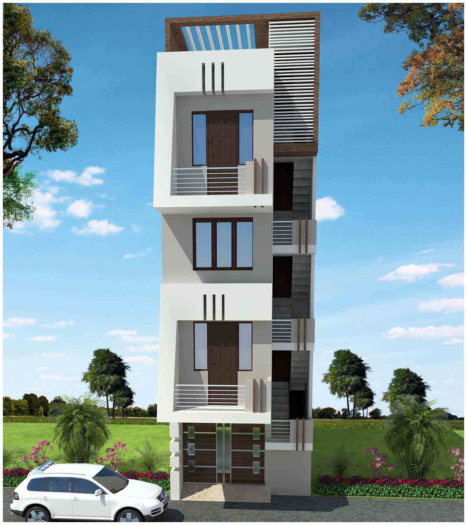 Ý tưởng thiết kế mẫu nhà phố 4 tầng diện tích 4 x 14m