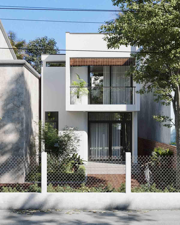 Mẫu thiết kế nhà phố 2 tầng đơn giản, ấm áp