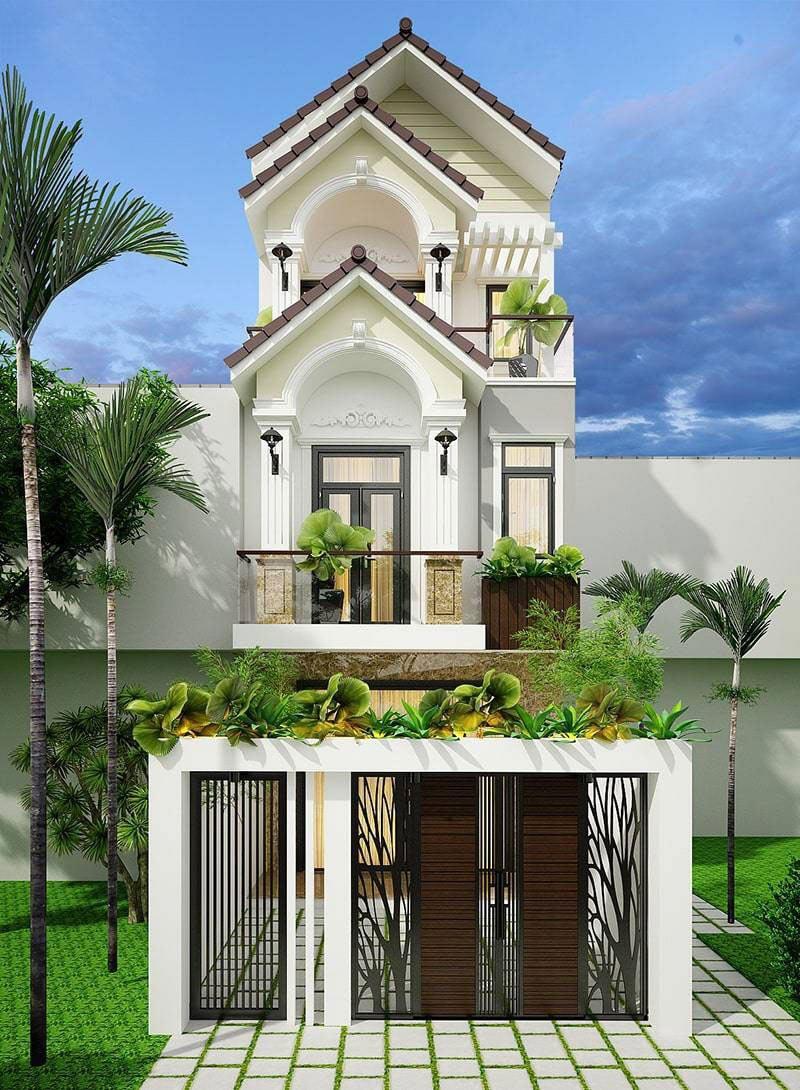 Thiết kế nhà phố mang phong cách tân cổ điển sang trọng