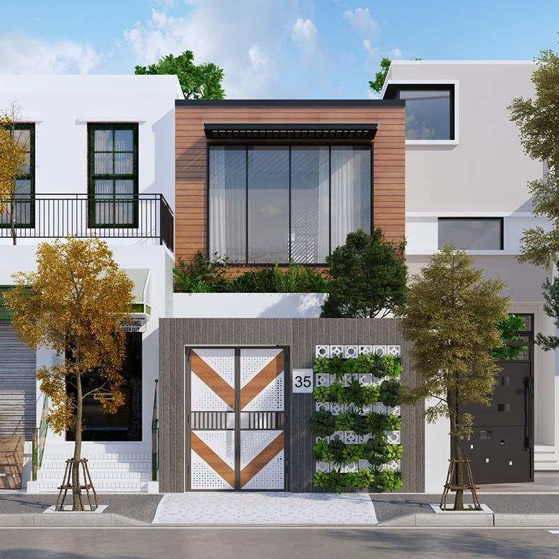 Mẫu thiết kế nhà phố mặt tiền 4m ấn tượng