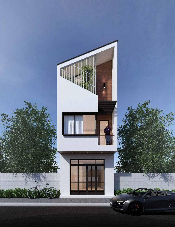 Thiết kế nhà phố mặt tiền 4 x 14m